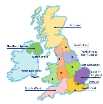 The UK Regions Back On The Global Property Map Prideview - Us map divided into 12 regions