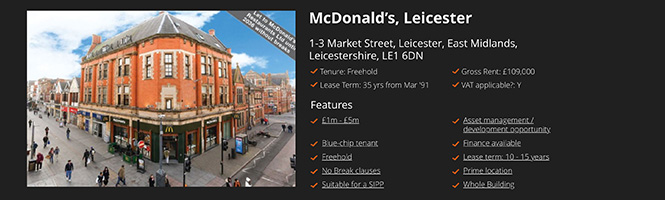 Restaurant investment: Mcdonalds, Leicester